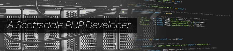 Scottsdale PHP developer writes code for deployment on servers.