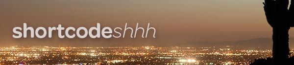 Wordpress plugin banner for Shortcode Shhh.