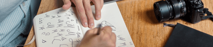 Build a website by starting from pen and paper sketches.