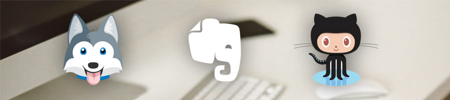 Favorite productivity apps are Evernote, Trello, Github.