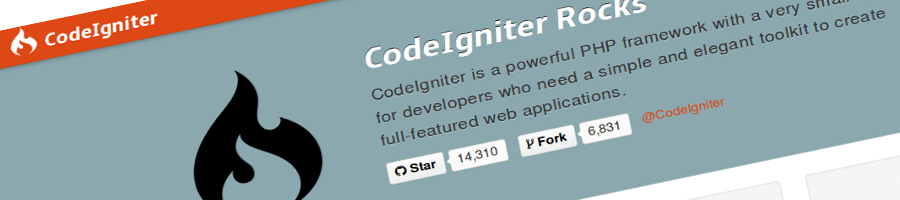 Screencap of the CodeIgniter intro text w/ Github actions.
