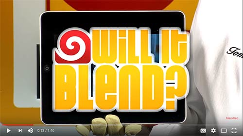 Will It Blend show heading, iPad edition