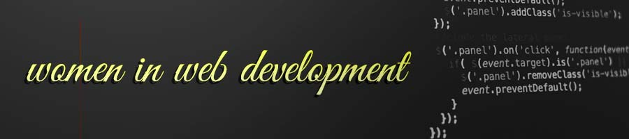 Women in Web Development Banner